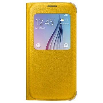 Samsung Galaxy S6 S-View Flip Case EF-CG920PY Geel