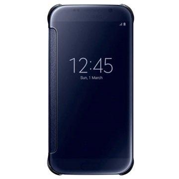 Samsung Galaxy S6 Clear View Flip Case EF-ZG920BB Zwart Saffier