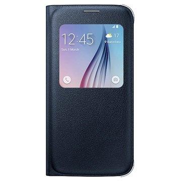 Samsung Galaxy S6 S-View Flip Case EF-CG920PB Zwart