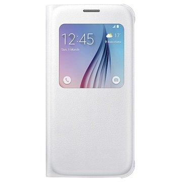 Samsung Galaxy S6 S-View Flip Case EF-CG920PW Wit