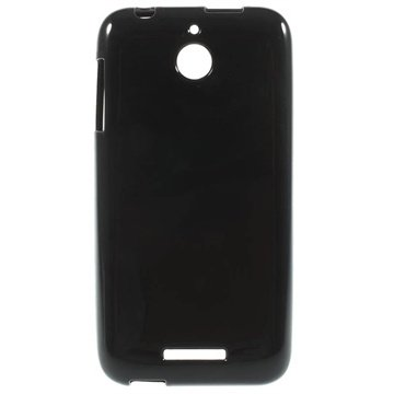 HTC Desire 510 Glossy TPU Case Zwart