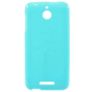 HTC Desire 510 Glossy TPU Case Blauw