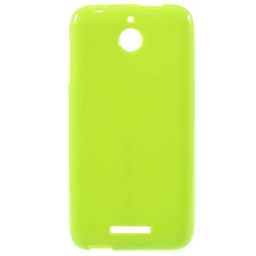 HTC Desire 510 Glossy TPU Case Lime Groen