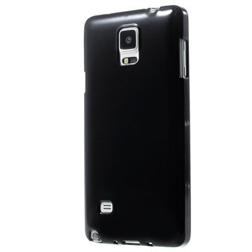 Samsung Galaxy Note 4 Glossy TPU Case Zwart