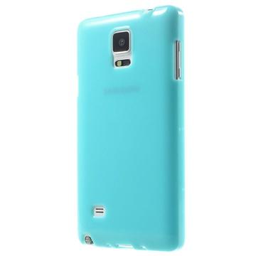 Samsung Galaxy Note 4 Glossy TPU Case Blauw
