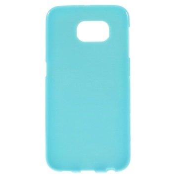 Samsung Galaxy S6 Glossy TPU Case Blauw