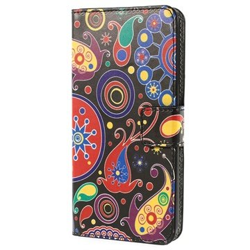 HTC Desire 510 Wallet Leren Hoesje Paisley Motief