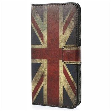 HTC Desire 510 Wallet Leren Hoesje Union Jack