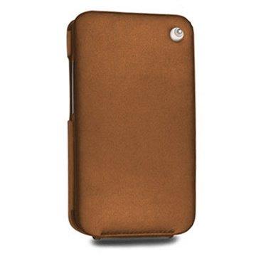 HTC Desire HD Noreve Tradition Flip Leren Case Bruin