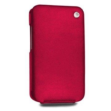 HTC Desire HD Noreve Tradition Flip Leren Case Rood
