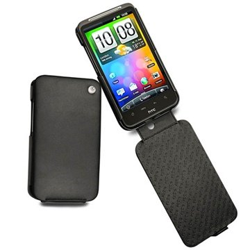 HTC Desire HD Noreve Tradition Flip Leren Case Zwart