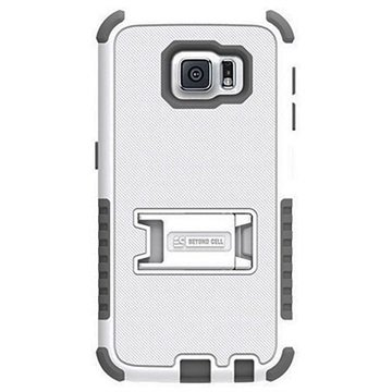 Samsung Galaxy S6 Beyond Cell Tri Shield Hybrid Cover Wit / Grijs