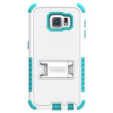Samsung Galaxy S6 Beyond Cell Tri Shield Hybrid Cover Wit / Lichtblauw