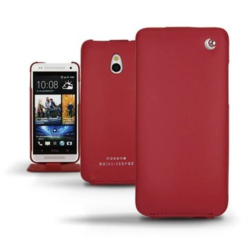 HTC One mini Noreve Tradition Flip Leren Case Rood