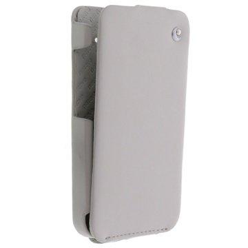 HTC Desire HD Noreve Tradition Flip Leren Case Grijs