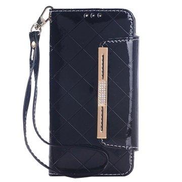 Samsung Galaxy S6 Handbag Wallet Hoesje Zwart