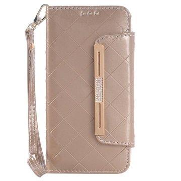 Samsung Galaxy S6 Handbag Wallet Hoesje Goud