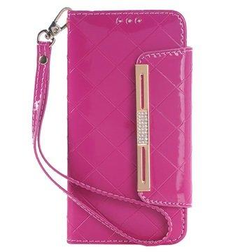 Samsung Galaxy S6 Handbag Wallet Hoesje Hot Pink