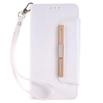 Samsung Galaxy S6 Handbag Wallet Hoesje Wit