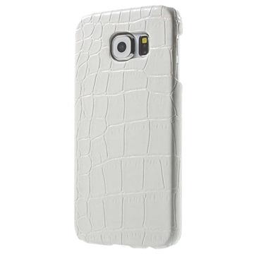 Samsung Galaxy S6 Hard Cover - Crocodile Wit