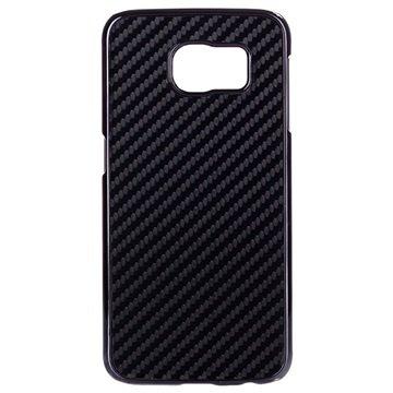 Samsung Galaxy S6 Hard Cover - Carbonvezel Zwart