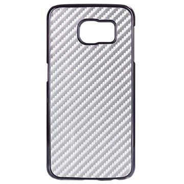 Samsung Galaxy S6 Hard Cover - Carbonvezel Zilver