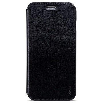 iPhone 6 Plus / 6S Plus Hoco Crystal Series Classic Flip Case Zwart