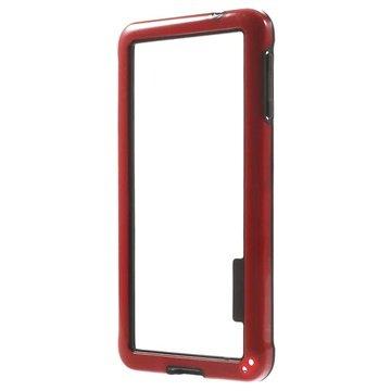 Hybrid bumper voor samsung galaxy alpha   rood  bumper frame bevat de rand van de telefoon en biedt ...