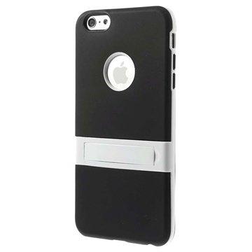 iPhone 6 Plus / 6S Plus Hybrid Onzichtbare Staander Cover Zwart