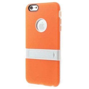 iPhone 6 Plus / 6S Plus Hybrid Onzichtbare Staander Cover Oranje