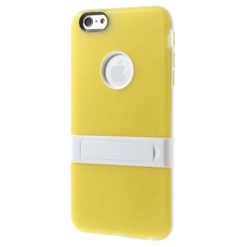 iPhone 6 Plus / 6S Plus Hybrid Onzichtbare Staander Cover Geel