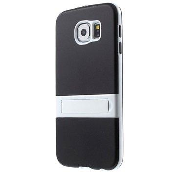Samsung Galaxy S6 Hybrid Onzichtbare Staander Cover Zwart