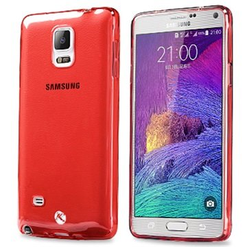 Samsung Galaxy Note 4 Kalaideng Air Series TPU Case Doorzichtig / Hot Pink