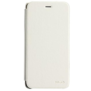 iPhone 6 Plus / 6S Plus Kalaideng Enland Series Flip Leren Case Wit