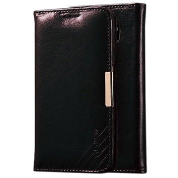 Samsung Galaxy S6 Kalaideng Royale II Wallet Leren Hoesje Zwart