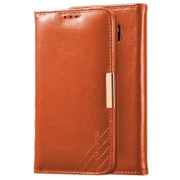 Samsung Galaxy S6 Kalaideng Royale II Wallet Leren Hoesje Bruin