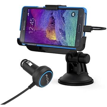 Samsung Galaxy Note 4 KiDiGi Autohouder / Lader Zwart