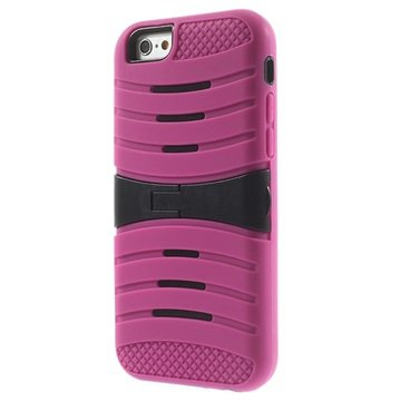 iPhone 6 / 6S Kickstand Hybride Cover Hot Pink