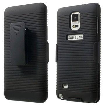 Samsung Galaxy Note 4 Kickstand Holster Cover Zwart