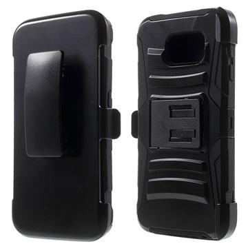 Samsung Galaxy S6 Kickstand Hybride Cover Zwart