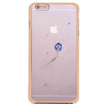 iPhone 6 Plus / 6S Plus Kingxbar Swarovski Crystal Hard Cover Peacock Feather