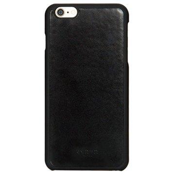 iPhone 6 Plus Knomo Lederen Harde Cover Zwart
