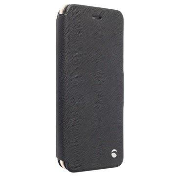iPhone 6 Plus / 6S Plus Krusell Malmö Wallet Leren Hoesje Zwart