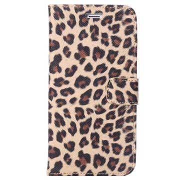 iPhone 6 Plus / 6S Plus Wallet Leren Hoesje - Leopard Bruin