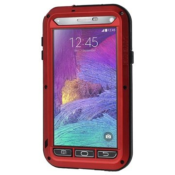 Samsung Galaxy Note 4 Love Mei Powerful Hybride Cover Rood