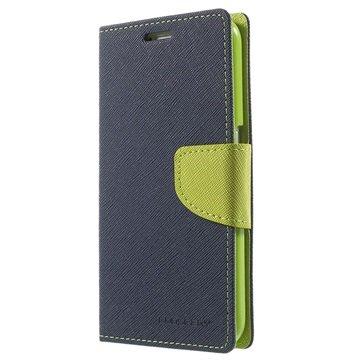 Samsung Galaxy S6 Mercury Goospery Fancy Diary Wallet Hoesje Blauw / Groen