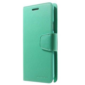 Samsung Galaxy Note 4 Mercury Goospery Sonata Diary Wallet Hoesje Cyan