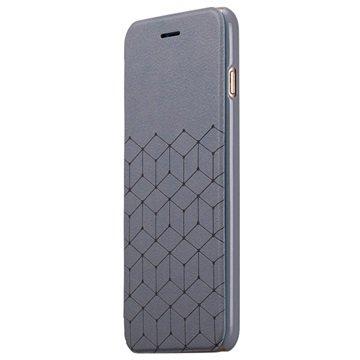 iPhone 6 Plus Momax Be Elite Series Flip Case Grijs