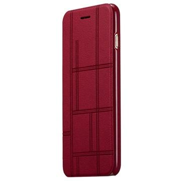 iPhone 6 Plus Momax Be Elite Series Flip Case Rood