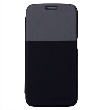 Samsung Galaxy S6 Momax Flip Case Zwart / Grijs
